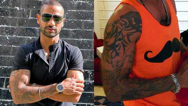 Shikhar Dhawan Right Arm Tattoo