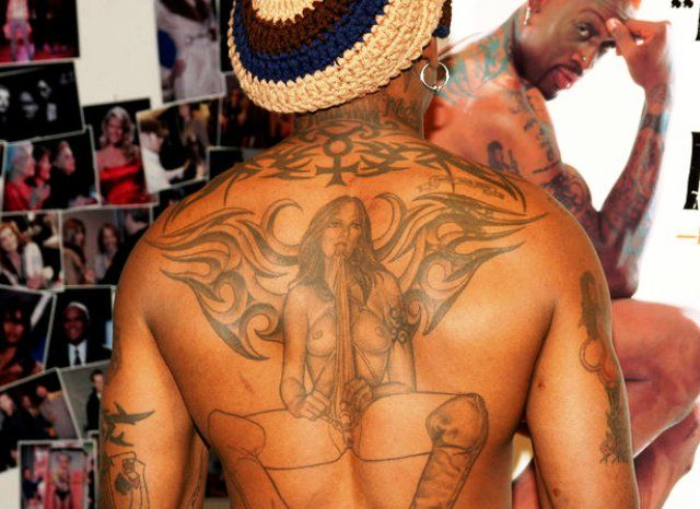 Dennis Rodman Back Tattoo