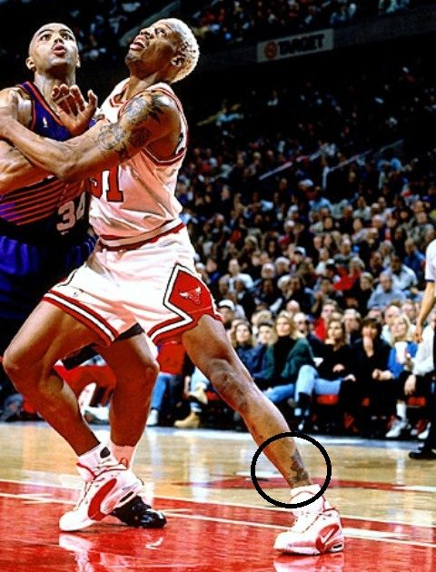Dennis Rodman Leg Tattoos