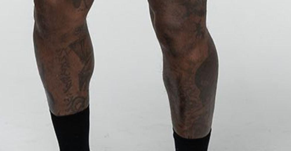Djibril leg tattoos