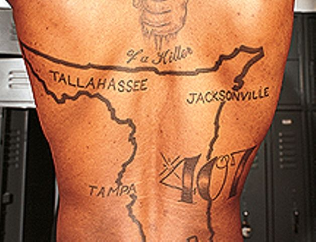 Marquis Daniels Back Tattoo