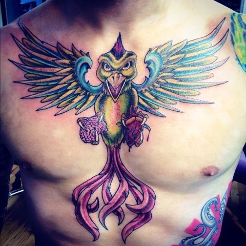Scott Jorgensen Screaming Bird Tattoo