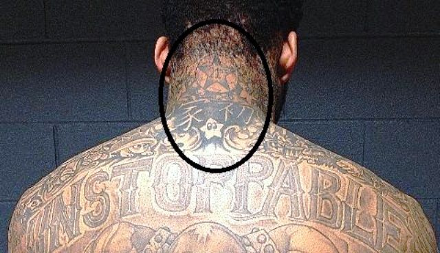 Wilson Chandler Back Neck Tattoos