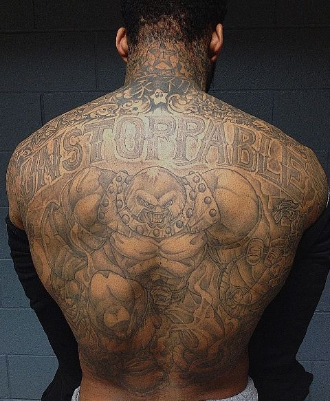 Wilson Chandler Back Tattoo