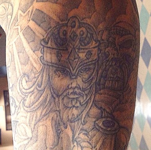 Wilson Chandler He-Man Tattoo