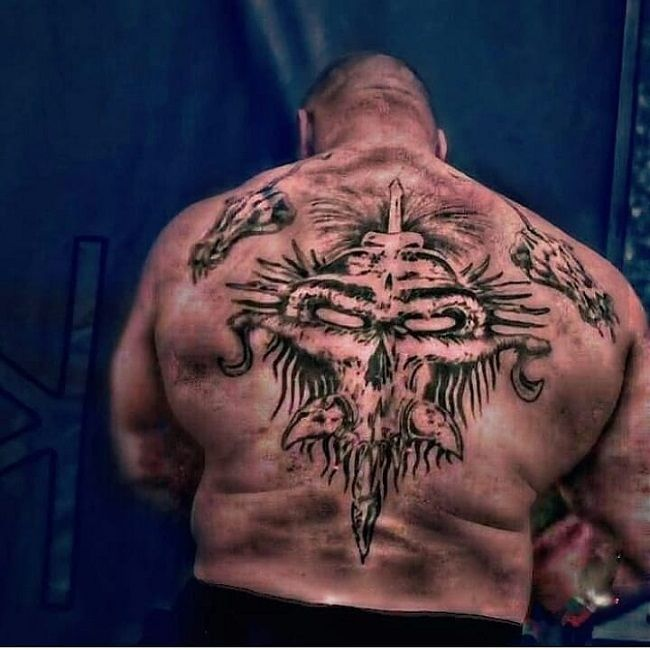 brock lesnar-punches tattoo