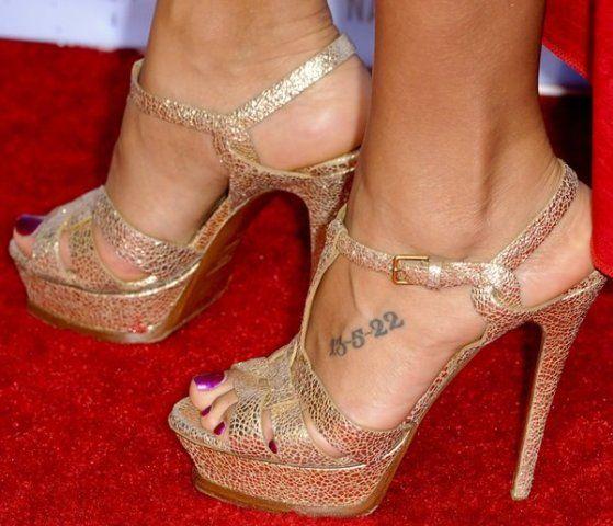 Dania Ramirez Foot Tattoo