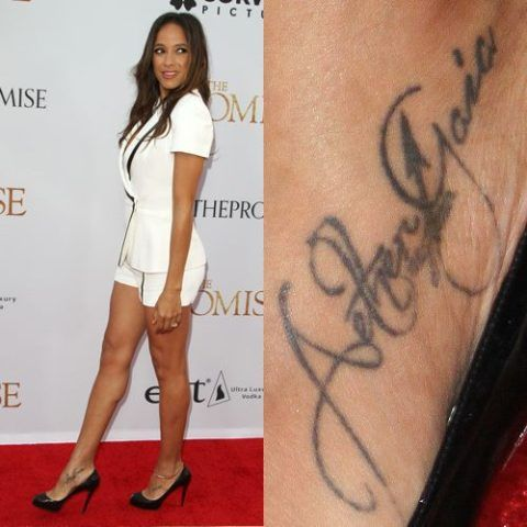 Dania Ramirez Names Tattoo