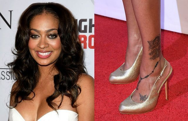 La La Anthony Fairy Tattoo On Anklet