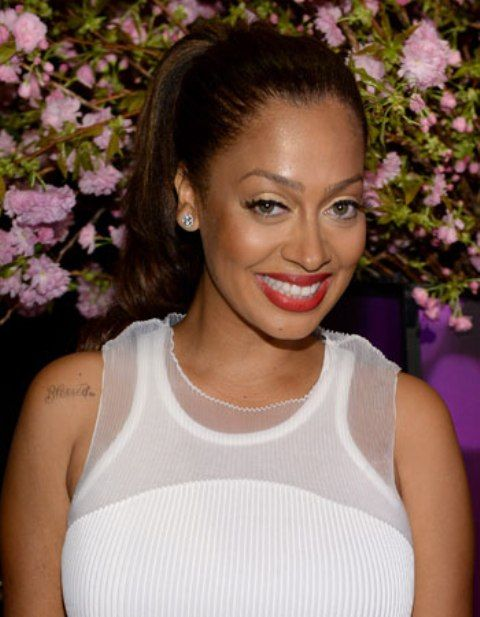 La La Anthony Shoulder Tattoo