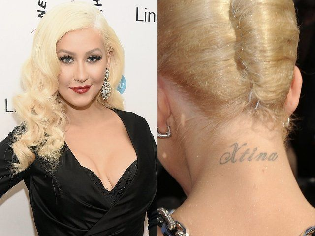 Christina Aguilera Nape Tattoo
