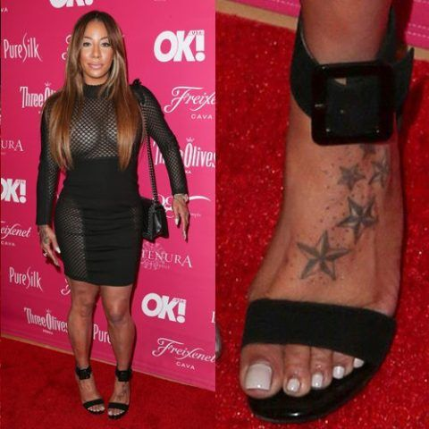 Hazel E Stars Foot Tattoo