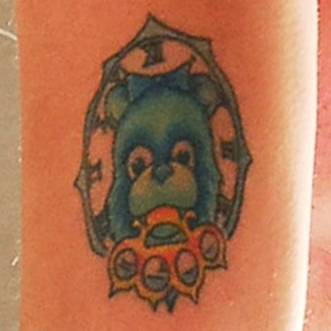Maria Brink Bear Tattoo