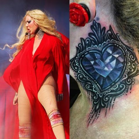 Maria Brink Diamond Shaped Heart Tattoo