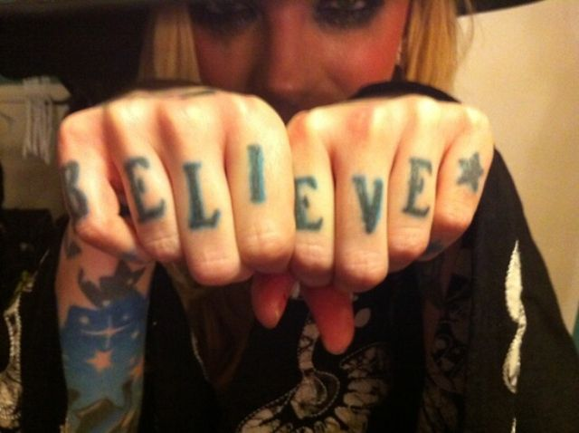 Maria Brink Knuckles Tattoo