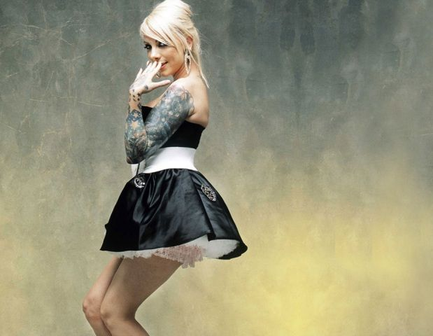 Maria Brink Left Sleeve Tattoo