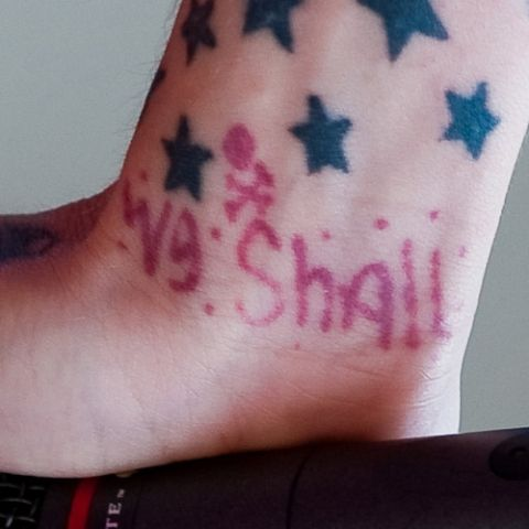 Maria Brink We Shall Wrist Tattoo