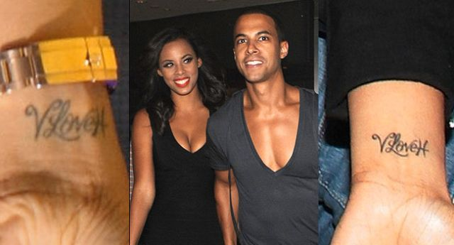 Rochelle Humes Love Tattoo