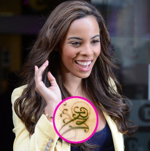 Rochelle Humes Writing On Wrist Tattoo