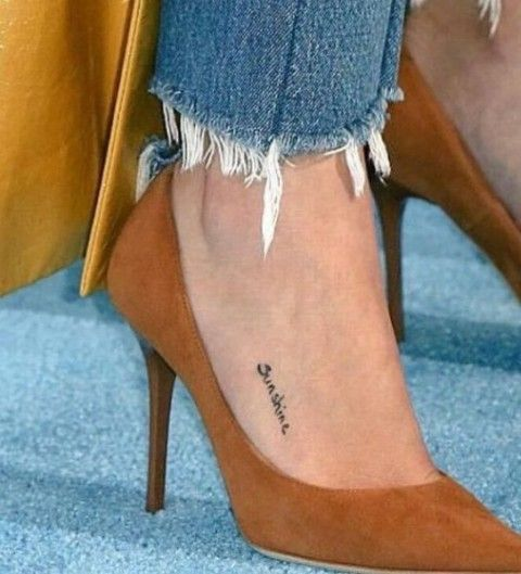 Selena Gomez Foot Tattoo