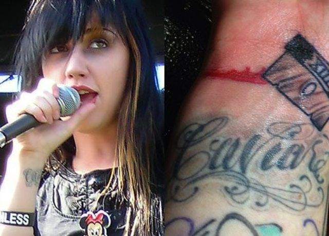 Ash Costello Caviar Wrist Tattoo