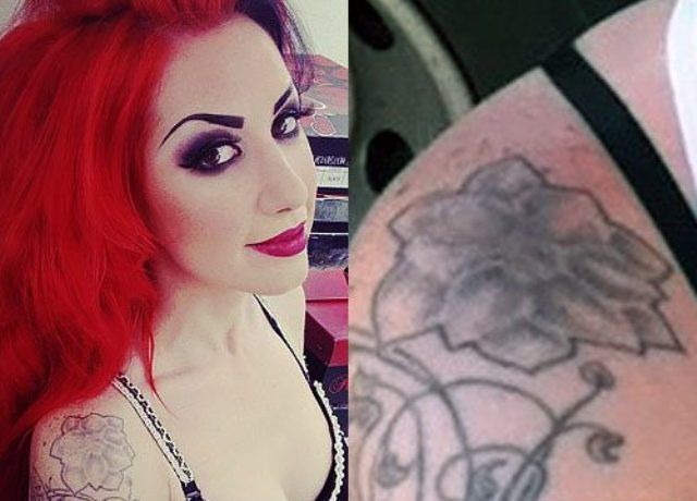 Ash Costello Flower Shoulder Tattoo
