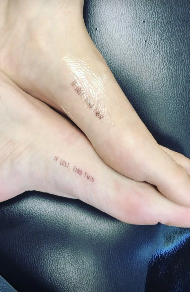 Bella Thorne Matching Foot Tattoo