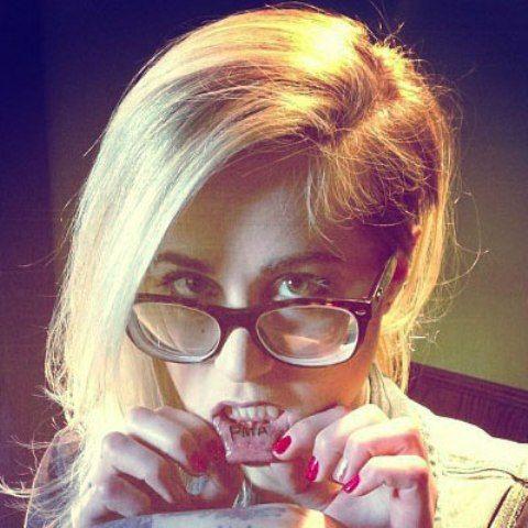 Carah Faye Charnow Inner Lip Tattoo