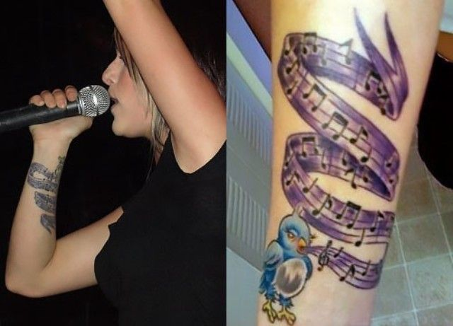 Cassadee Pope Blue Bird Tattoo
