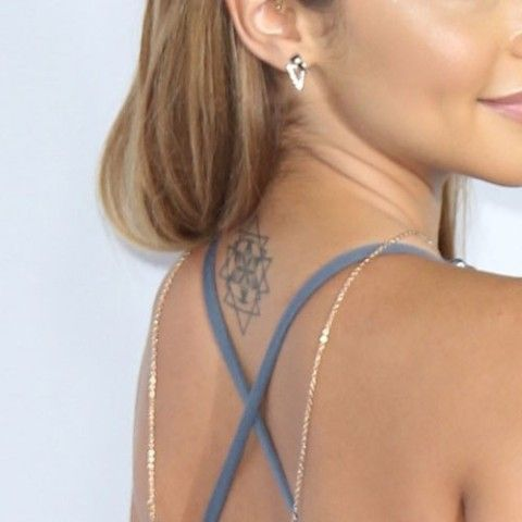 Chantel Jeffries Geometric Design Tattoo