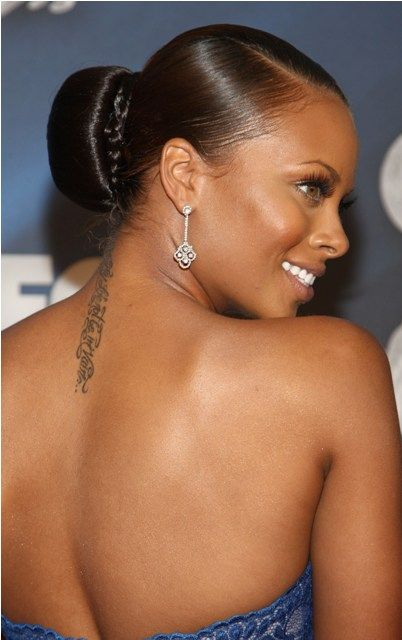 Eva Marcille Neck Tattoo