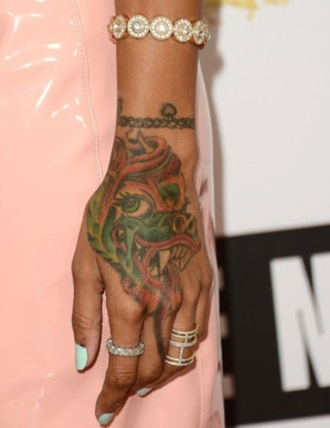 Karrueche Tran Bracelet And Chinese Dragon On Hand