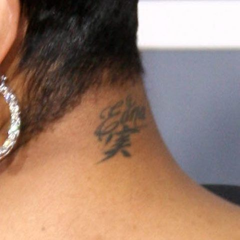 Monica Brown Nape Tattoo