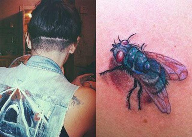 Sierra Kusterbeck Fly Shoulder Tattoo1