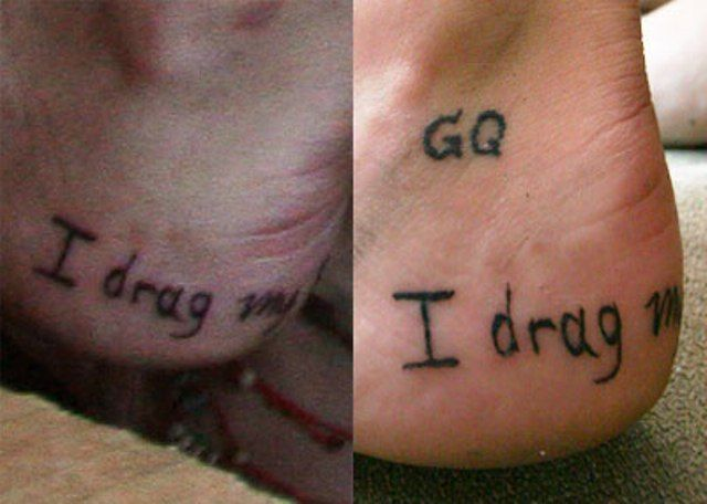 Sierra Kusterbeck Writing On Outer Side Foot Tattoo