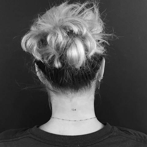Sofia Richie Nape Tattoo