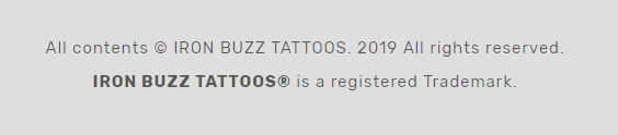 registered tattoo parlor