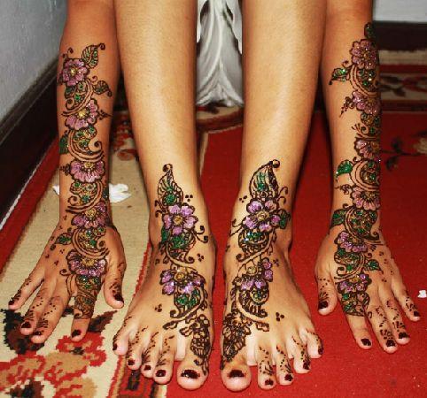 Colourful Patterns Mehndi