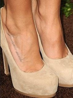 Ashley Tisdale Tattoo - Foot