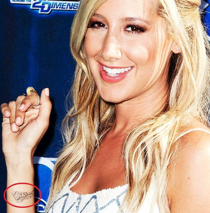 Ashley Tisdale Wrist Tattoo - Frearless