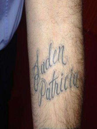 Carson Daly Left Arm Jaden Patricia