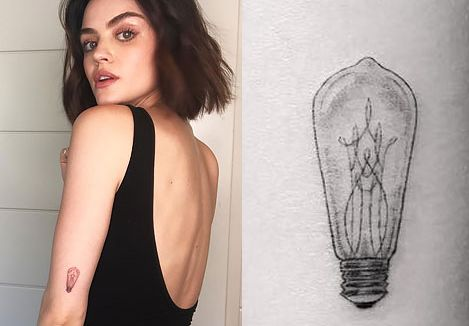 Lucy Hale Left Elbow