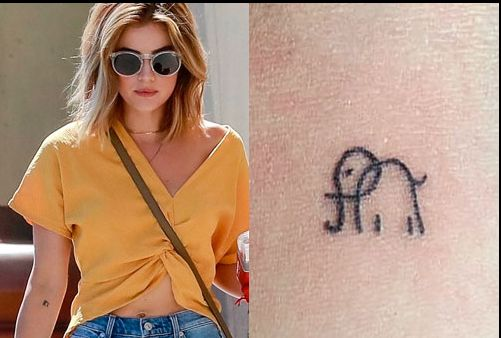 Lucy Hale Right Arm Elephant