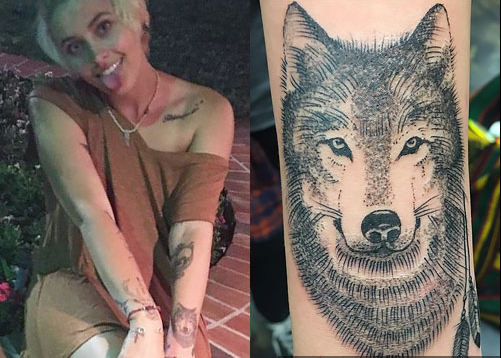 Paris Jackson Left Arm Wolf