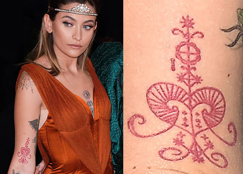 Paris Jackson Right Arm Voodoo