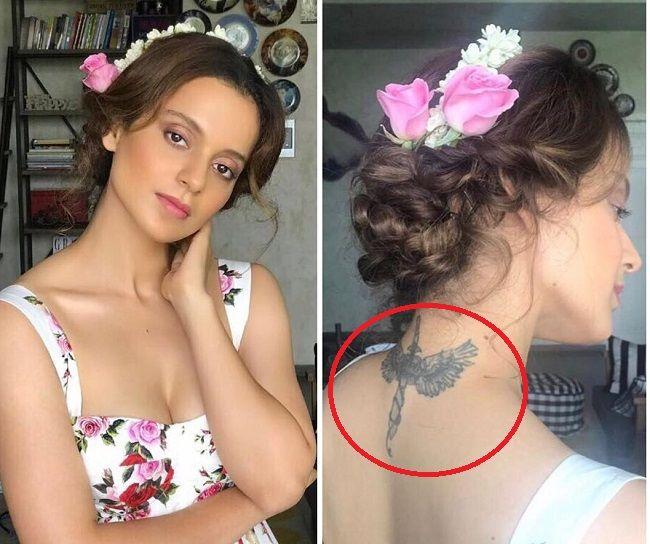 warrior angel tattoo of kangana