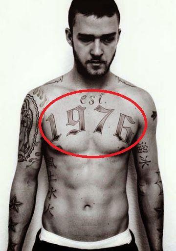 1976 - Justin Timberlake tattoo