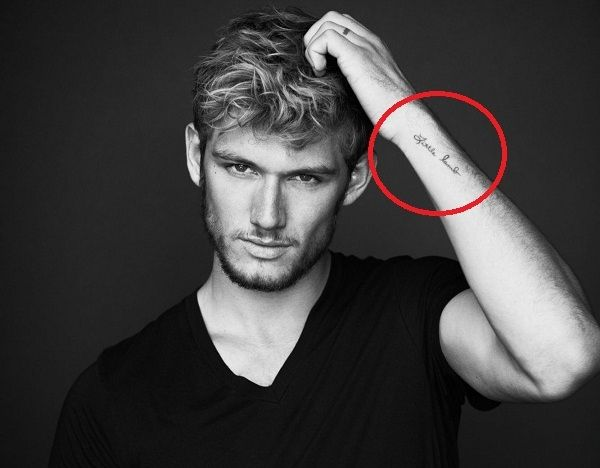 Alex Pettyfer little lamb tattoo