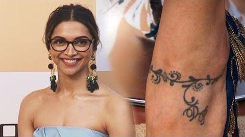 Deepika Padukone Ankle Tattoo