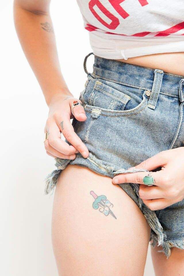 Halsey dagger tattoo